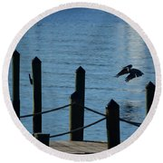 Last Light Flight Round Beach Towel by Susan Molnar