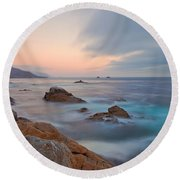 Last Light Round Beach Towel by Jonathan Nguyen