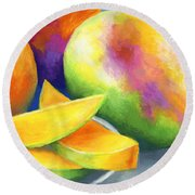 Last Mango In Paris Round Beach Towel by Stephen Anderson