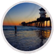 Last Wave Round Beach Towel