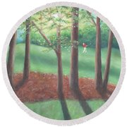 Late Afternoon At Eagle Ridge Round Beach Towel