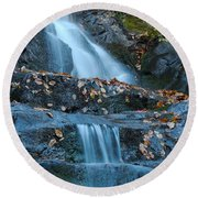 Round Beach Towel featuring the photograph Laurel Falls by Patrick Shupert