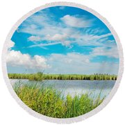 Lauwersmeer National Park. Round Beach Towel