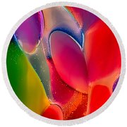 Lava Lamp Round Beach Towel