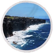 Lava Shore Round Beach Towel
