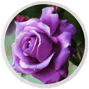 Lavender Lady Round Beach Towel by RC deWinter