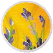 Lavender - Hanging Position 2 Round Beach Towel