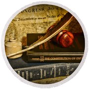 Lawyer - The Constitutional Lawyer Round Beach Towel