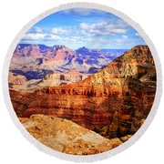 Layers Of The Canyon Round Beach Towel