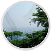 Layers Of Tree Round Beach Towel