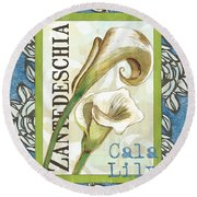 Lazy Daisy Lily 1 Round Beach Towel