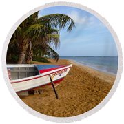 Round Beach Towel featuring the photograph Lazy Day by The Art of Alice Terrill