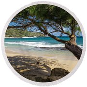 Lazy Day At The Beach Round Beach Towel