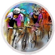 Le Tour De France 03 Round Beach Towel