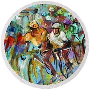 Le Tour De France Madness 02 Round Beach Towel