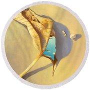 Leaf Of Life Round Beach Towel