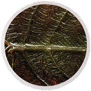 Leafage Round Beach Towel by Richard Thomas