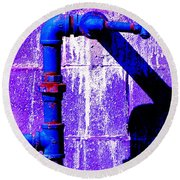Leaky Faucet IIi Round Beach Towel by Christiane Hellner-OBrien