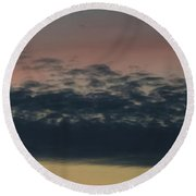 Leave The Light On Round Beach Towel