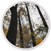 Leaves Lost Round Beach Towel by Photographic Arts And Design Studio
