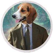Legal Beagle Round Beach Towel