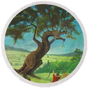 Legendary Archer Round Beach Towel