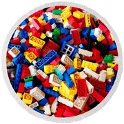 Lego - From 4 To 99 Round Beach Towel