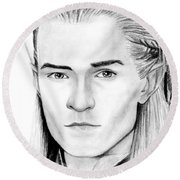 Legolas Greenleaf Round Beach Towel