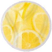 Lemonade Round Beach Towel