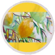 Lemons And Lime Round Beach Towel