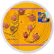 Round Beach Towel featuring the digital art Leo  by The Art of Alice Terrill
