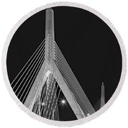 Leonard P. Zakim Bunker Hill Memorial Bridge Bw II Round Beach Towel
