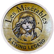 Les Miserables Round Beach Towel by Ed Weidman
