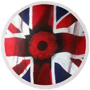 Lest We Forget Round Beach Towel
