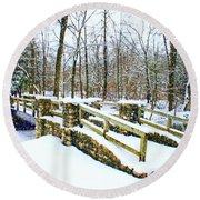 Let It Snow Let It Snow Round Beach Towel by Kay Novy