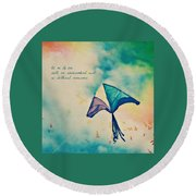 Let Me Fly Free Round Beach Towel