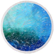 Let The Sea Roar With All Its Fullness Round Beach Towel