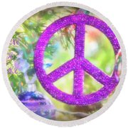 Let There Be Peace On Earth Round Beach Towel
