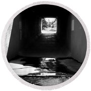 Lethbridge Underpass Round Beach Towel