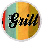 Let's Grill This Round Beach Towel