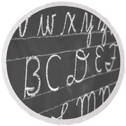 Letters On A Chalkboard Round Beach Towel