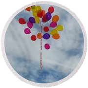 Letting Go Round Beach Towel by Emmy Marie Vickers