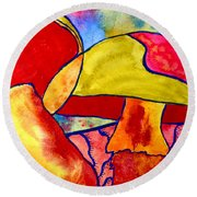 Letting My Freak Flag Fly Round Beach Towel by Beverley Harper Tinsley