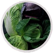 Lettuce Round Beach Towel