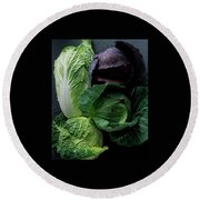 Lettuce Round Beach Towel by Romulo Yanes