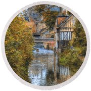 L'eure A Louviers Round Beach Towel
