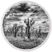 Round Beach Towel featuring the photograph Levy Lake by Howard Salmon
