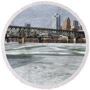 Liberty Bridge # 1 Round Beach Towel