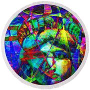 Liberty Head Abstract 20130618 Round Beach Towel