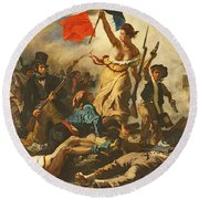 Liberty Leading The People, 28 July 1830 Round Beach Towel